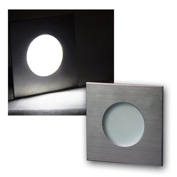 LED Einbauleuchte Edelstahl 12V DC 1,2W