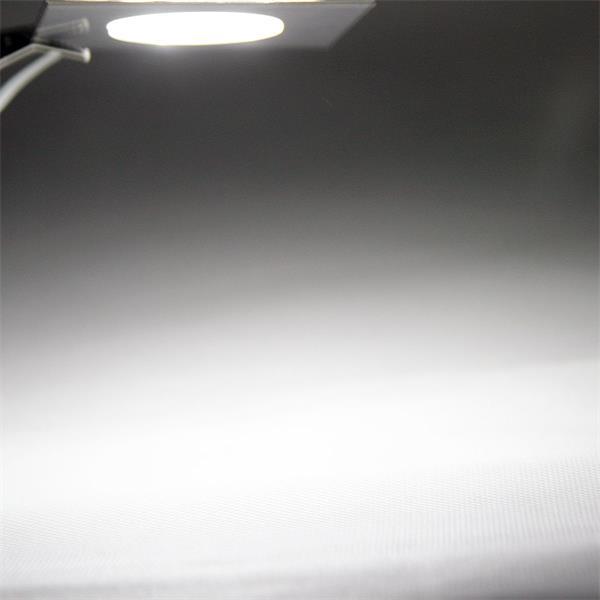 LED Einbauspot 12V mit kalt weiß leuchtenden SMD LEDs hinter Milchglas