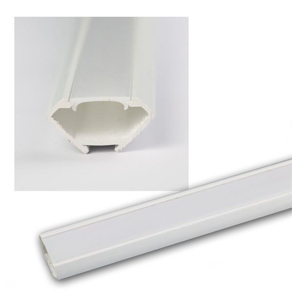 "1m LED Kunststoff-Profil ""ECKE"" weiß, Abdeckg OPAL"