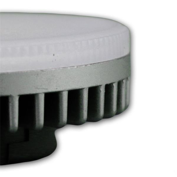Sockel GX53 LED Leuchte mit 75mm Durchmesser und einer Höhe von 25mm