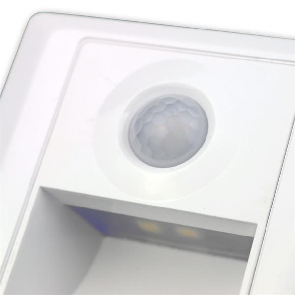 LED Einbauspot mit Bewegungsmelder in weiß mit elegantem kratzfestem Design