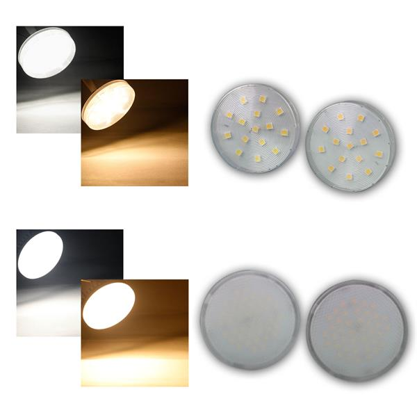 gx53 led leuchtmittel xh25 60 warmwei daylight 3 8w. Black Bedroom Furniture Sets. Home Design Ideas