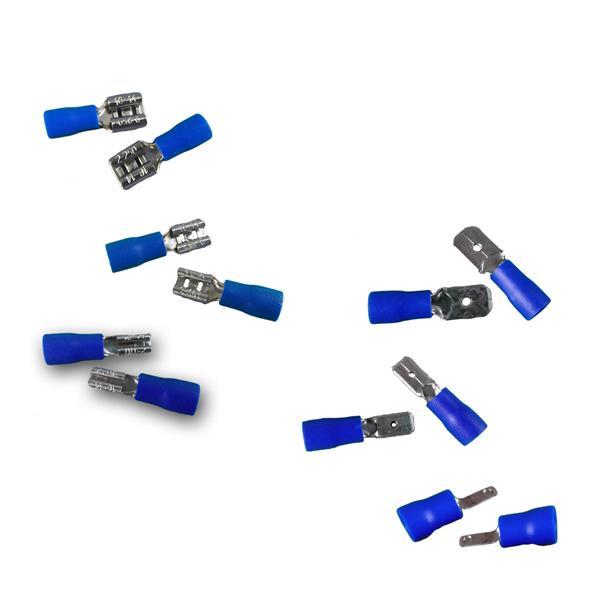 50er Set Kabelschuhe Blau in Plastikbox
