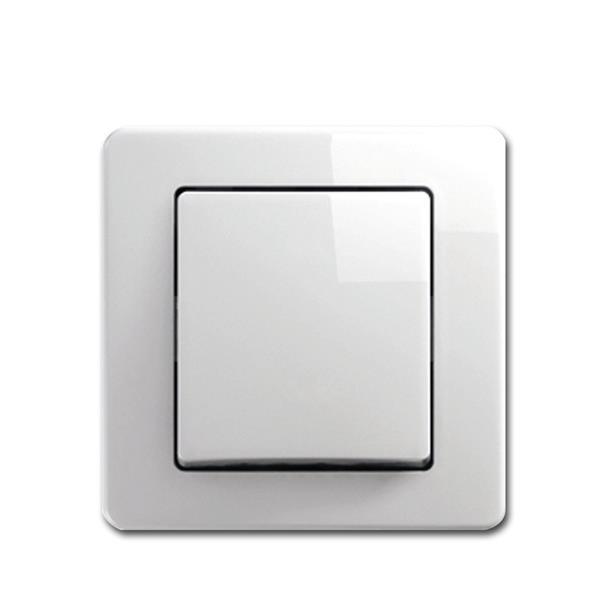 EKONOMIK Kreuz-Schalter, weiß, 250V~/10A, UP