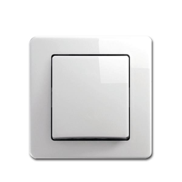 EKONOMIK Taster, weiß, 250V~/10A, UP unterputz