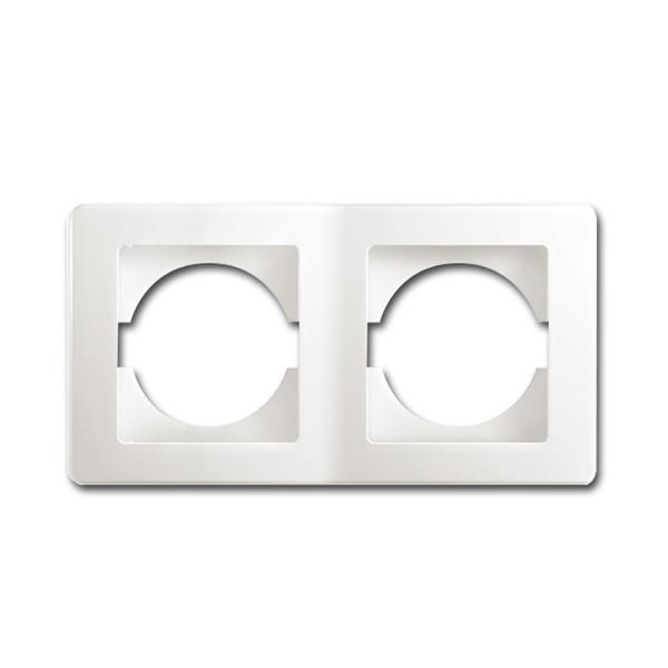 EKONOMIK 2-fach UP-Rahmen horizontal, weiß