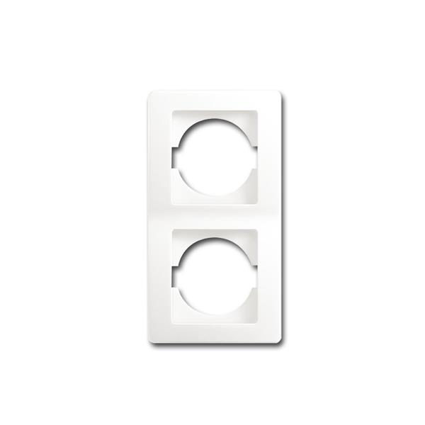 EKONOMIK 2-fach UP-Rahmen vertikal, weiß