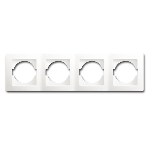 EKONOMIK 4-fach UP-Rahmen horizontal, weiß