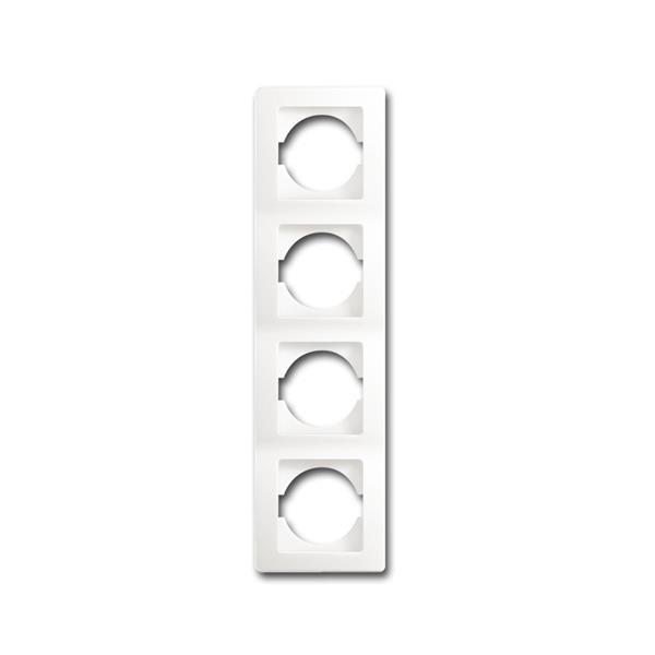 EKONOMIK 4-fach UP-Rahmen vertikal, weiß