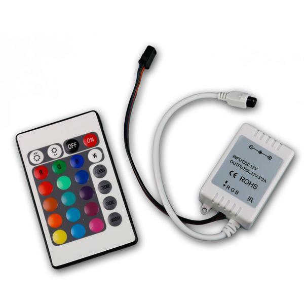 RGB LED Controller Farbwahl per IR FB, 4-pin Buchs