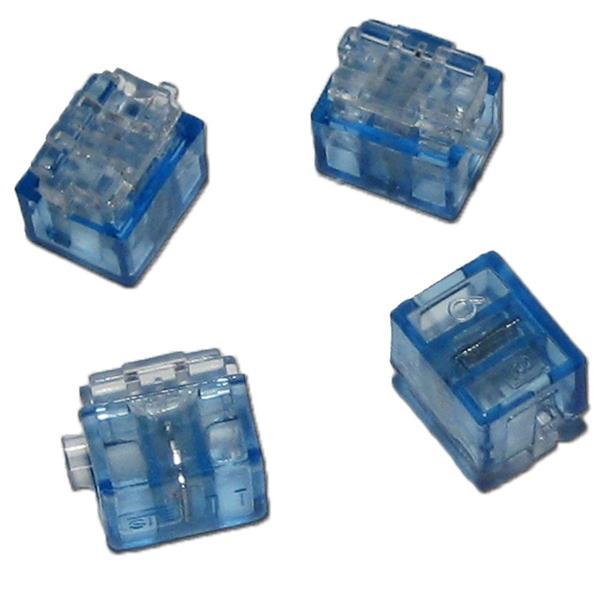 4 x Miniatur Abzweigverbinder blau 0,1 bis 0,9 mm²