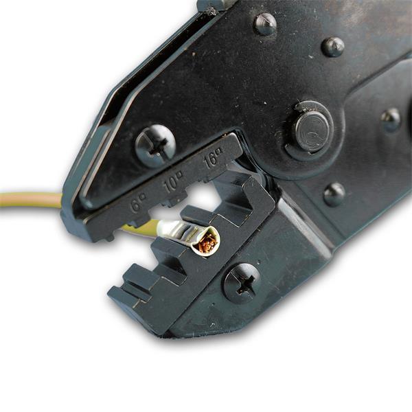 Zange mit gleichmäßigen Anpressdruck für eine formschlüssige Verbindung
