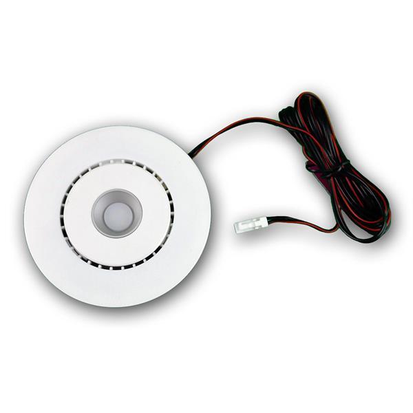 LED Einbaustrahler im weißem Metallgehäuse und ca. 6,8W Verbrauch