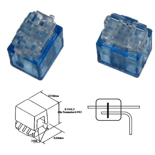 Quick Klemmverbinder für Kabel Nennquerschnitt 0,1 bis 0,9 mm²