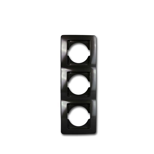 EKONOMIK 3-fach UP-Rahmen vertikal, anthrazit
