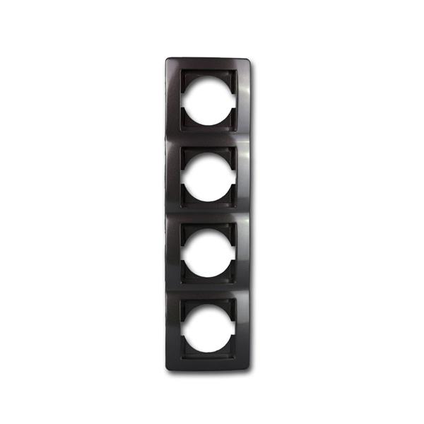 EKONOMIK 4-fach UP-Rahmen vertikal, anthrazit
