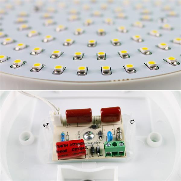 LED Deckenlampe zum direkten Anschluss an 230V und 120x 3528 SMD LED