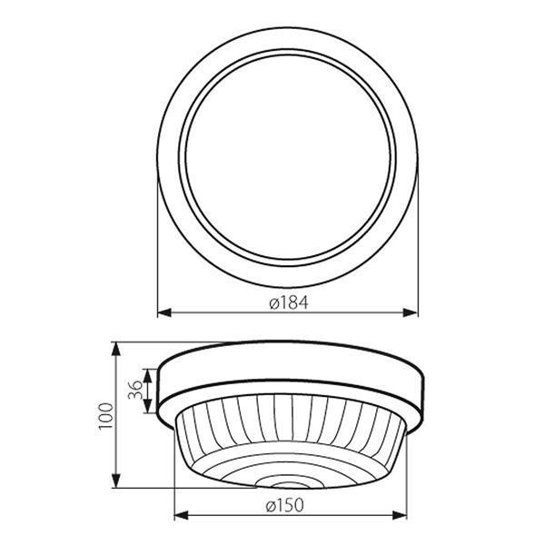 LED Wandlampe in klassischer Form für Innen- und Außenbereich