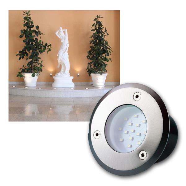 Bodenleuchte BEL 14R IP66 14 LEDs kalt weiß rund