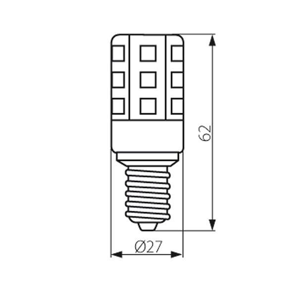 stromsparendes LED Leuchtmittel Sockel E14 für 230V und nur ca. 2,6W Verbrauch