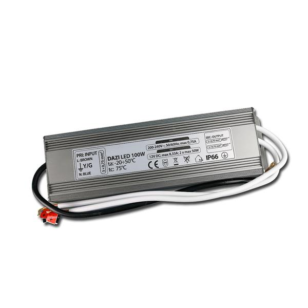 LED Transformator 100W Driver, 12V DC, IP66, Trafo