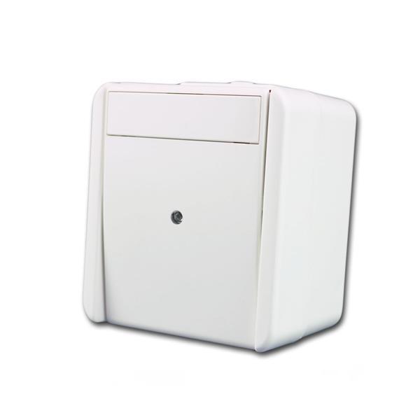 fontana Kontroll-Schalter weiß 250V~/10A, AP, IP44