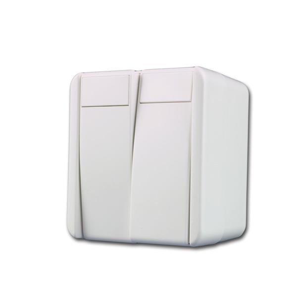 fontana Doppel-Wechsel-Schalter weiß 250V~/10A