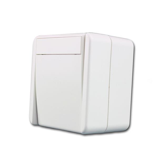 fontana Kreuzschalter, weiß, 250V~/10A, AP, IP44