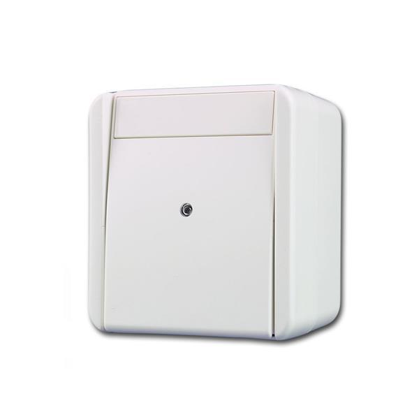 fontana Taster, Indikator weiß 250V~/10A, AP, IP44