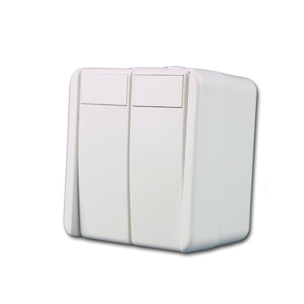 fontana Doppel-Taster, weiß 250V~/10A, AP, IP44