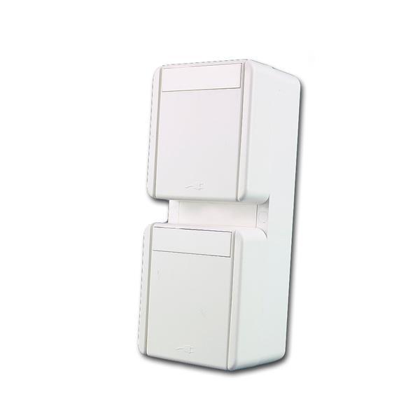 fontana Doppel-Steckdose VER weiß, 250V~/16A, IP44