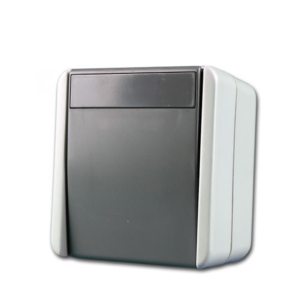 fontana Wechselschalter grau, 250V~/10A, AP, IP44