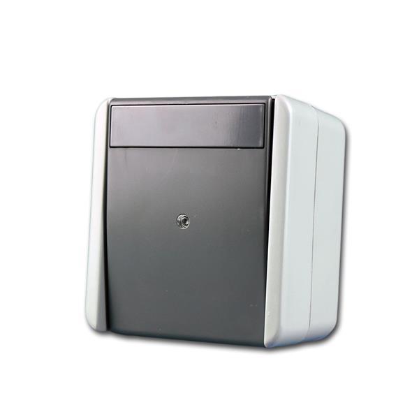 fontana Kontroll-Schalter grau 250V~/10A, AP, IP44