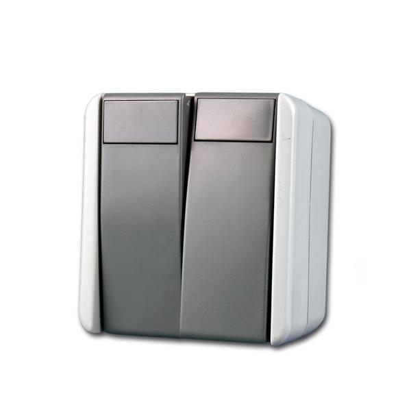 fontana Doppel-Wechsel-Schalter grau 250V~/10A