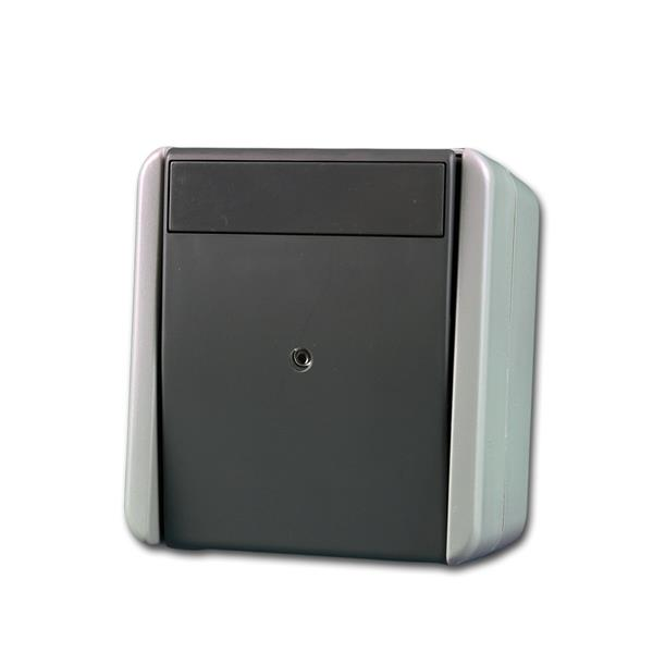 fontana Taster, Indikator grau 250V~/10A, AP, IP44