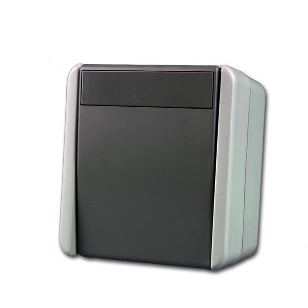fontana Schalter 2-polig grau, 250V~/10A, AP, IP44