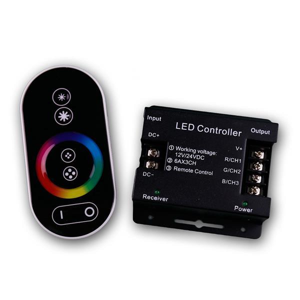 RGB LED Controller mit Touch-Fernbedienung, 3x6A