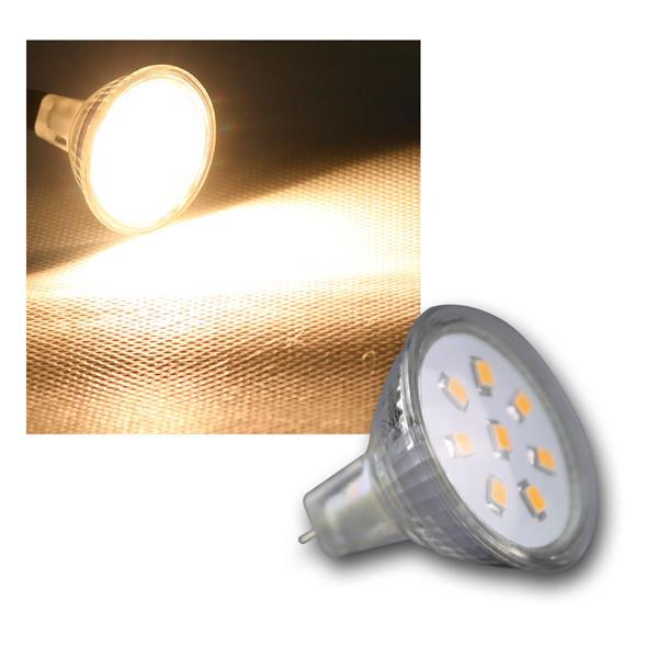 MR11 Strahler 8 SMD LED warm weiß 140lm 12V 2W