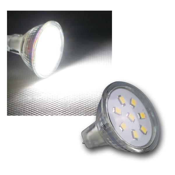 MR11 Strahler 8 SMD LED kalt weiß 150lm 12V 2W