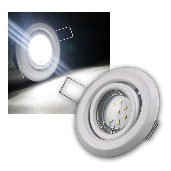 5er SET MR11 LED Einbaustrahler WEISS kw je 8 LED
