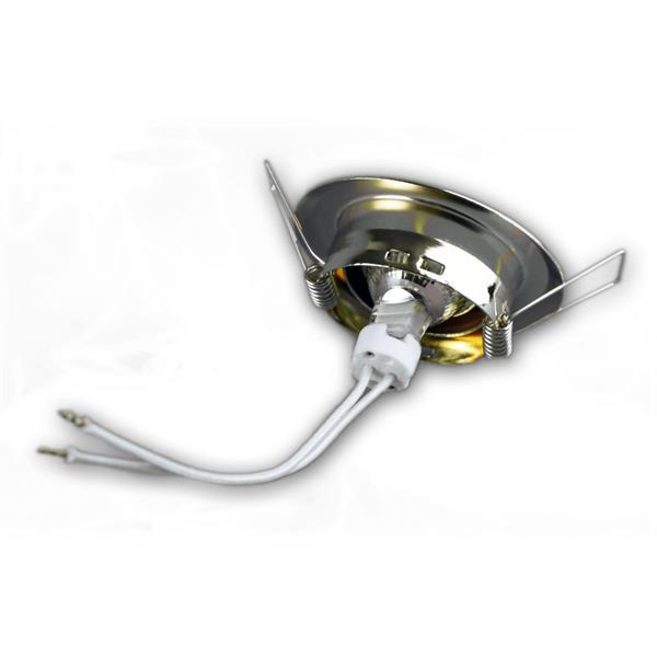 12V LED Downlight mit MR11-Lampenfassung wird via Sprengring befestigt