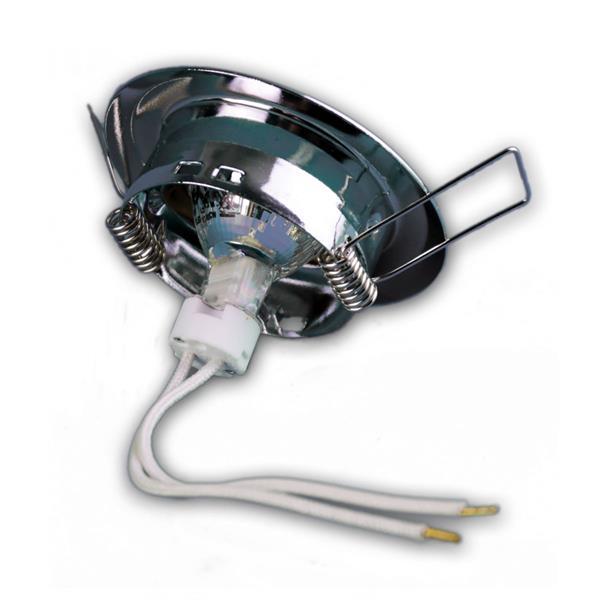 12V LED Leuchtmittel mit MR11-Lampenfassung wird via Sprengring befestigt