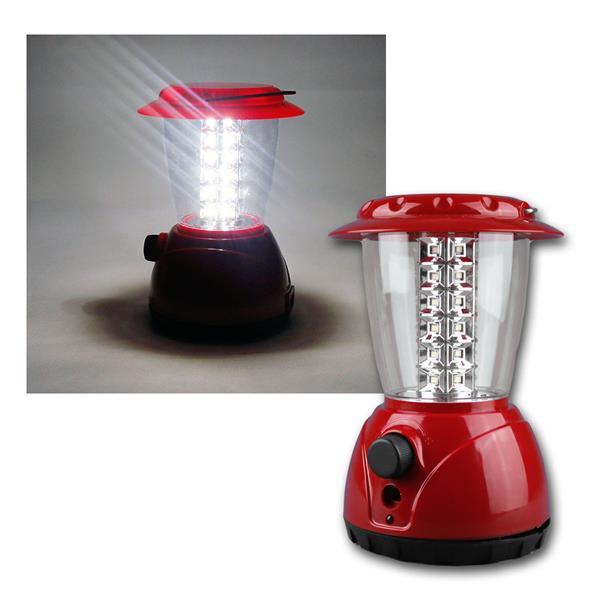 "Akku Camping Laterne ""CT-GL36"" 36 LEDs, dimmbar"