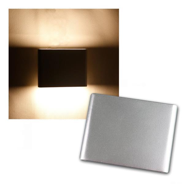 """LED Wandleuchte """"WL 106G"""" grau IP20 230V/6W 390lm"""