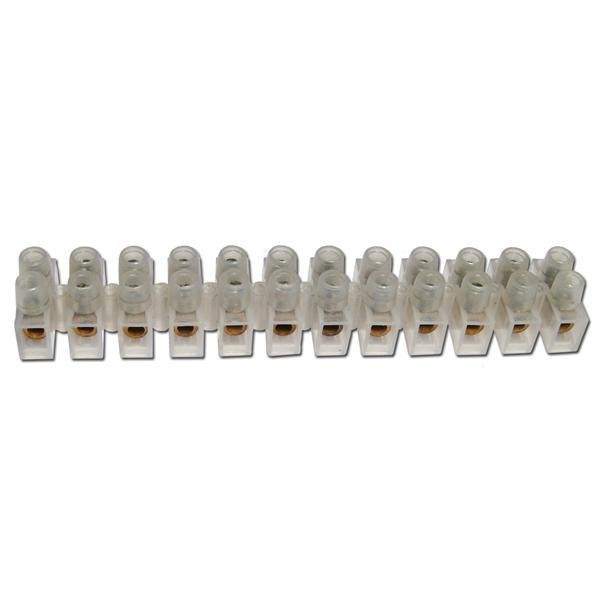 Lüsterklemmen, 1 Leiste à 12 Pole für 1,0-2,5mm²