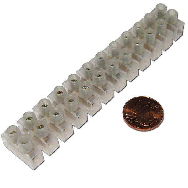 Klemmleiste, Messingeinsätze mit verzinkten Eisenschrauben