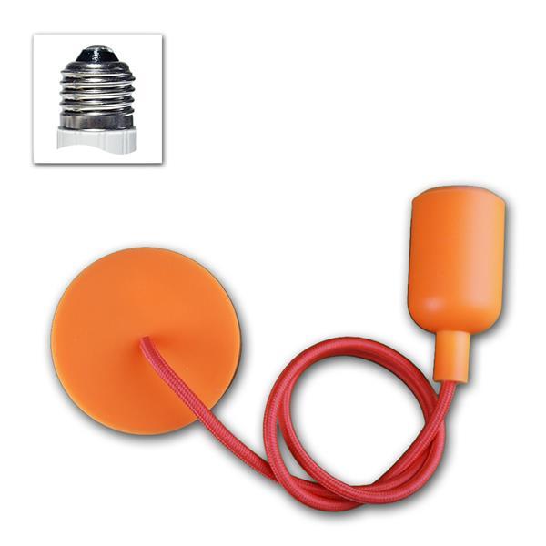 "E27 Lampenaufhängung ""Silikon"" orange 230V max 60W"