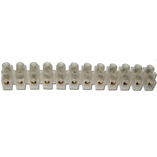 Lüsterklemmen, 1 Leiste à 12 Pole für 2,5-4,0mm²