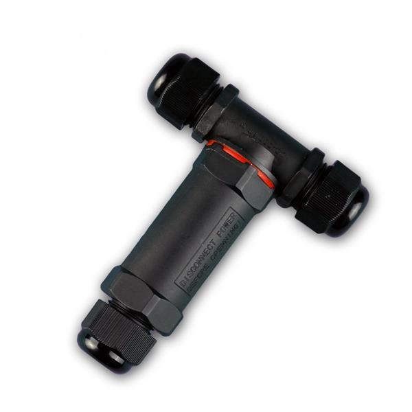 3polige Dosenmuffe / T-Verbinder IP68 230V Muffe