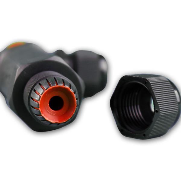 Kabelverbinder mit M20 Gewinde und Zugentlastung, Kunststoffgehäuse